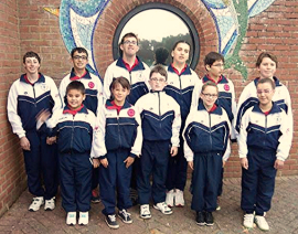 The eleven gymnasts in Poole