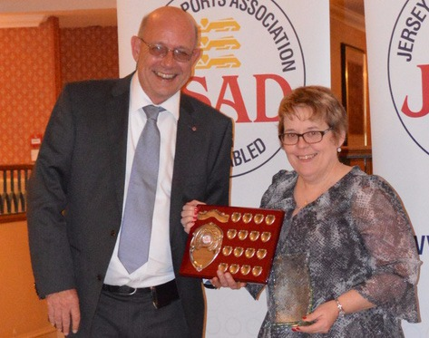 Jeannine Carey with chairman Paul Patterson MBE